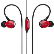 漫步者 H281PS 高等级运动三防耳机 酷黑红