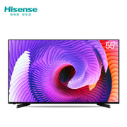 海信 LED55EC270W 55英寸 窄边网络电视 丰富影视资源 WIFI(黑色)