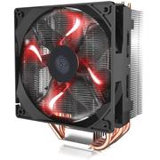 酷冷  T400i CPU 散热器(支持INTEL平台/4热管/PWM温控/LED红光风扇/背锁扣具/直触热管)