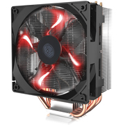 酷冷  T400 CPU 散热器(支持多平台/4热管/PWM温控/LED红光风扇/背锁扣具/可扩充双风扇)