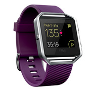 Fitbit Blaze智能健身手表 GPS全球定位 心率实时检测 多项运动模式 手机音乐操控 来电提醒 紫色 小号