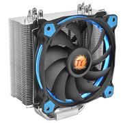 Thermaltake Silent 12 蓝色导光圈 CPU散热器(150W散热功耗/Riing蓝色风扇/温控PWM)