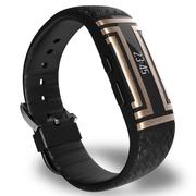 爱国者 W01福寿手环老人智能手环 来电提醒 心率睡眠监测 运动手环计步防水跌倒提醒微信互联 黑色