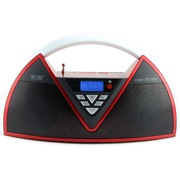 索爱  SA-Q8 便携式移动手提户外音响 蓝牙电瓶插卡广场舞音箱(红色)