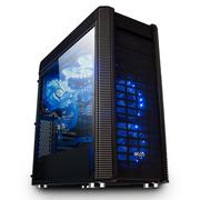 爱国者 发现机箱黑色中塔式(标配LED静音风扇12CM*2/双U3/读卡器/风扇调速器/音频HD/支持水冷)