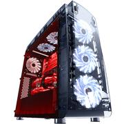 游戏悍将 熊出没 熊二全透明机箱(6个风扇/3条灯带/U3/调速器/读卡器/415显卡/360水冷/170散热器)