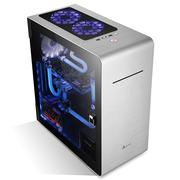 金河田 V9 ATX铝箱 (钢化玻璃侧透/航空铝材/原生U3/双SSD/水冷/吸入式光驱位)21+预见