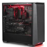 追风者 PK(H)416P 黑色ATX水冷静音机箱 (全金属/RGB饰灯控\支持360水冷\模组硬盘\标配2风扇)