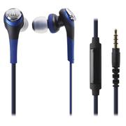 铁三角 ATH-CKS550IS 入耳式智能手机耳麦 蓝色