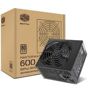 酷冷至尊 额定600W MASTERWATT LITE 600W电源(80Plus白牌/全台系电容/85%效率/三年换新)
