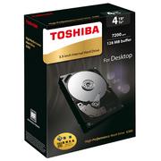 东芝 X300系列 4TB 7200转128M SATA3 台式机硬盘(HDWE140AZSTAU)