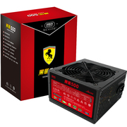 超频三 额定500W 黑马500电源(宽幅设计/峰值600W/12CM风扇/支持背线)