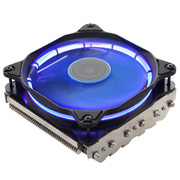 乔思伯 HP625日食蓝 多平台下吹CPU散热器 六热管 12CM PWM温控静音风扇