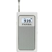 熊猫 6200 袖珍式FM插卡收音机 MP3播放器迷你小音箱音响(白色)
