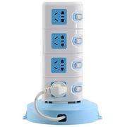 惠尔金 HJ-020 立式十六位+双USB分控开关1.8米插座/插排/插线板/拖线板