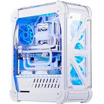 超频三 暴雪 白色 全塔式机箱(支持ATX大板/标配4个12CM风扇/1个LED灯条/水冷/长显卡)产品图片主图