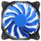乔思伯 Eclipse日食-炫光蓝 散热风扇(12CM/LED发光风扇/PWM温控/静音/主板4PIN接口)产品图片2