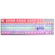 赛德斯 锋影 有线彩虹背光金属游戏外设机械键盘茶轴(白色混光)