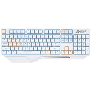 达尔优 DK300 游戏机械键盘 104键背光电竞 青轴