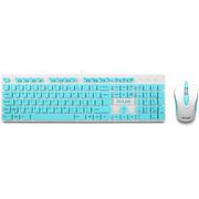 多彩 KA150+M137 有线轻薄键鼠套件 白蓝