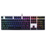 达尔优 机械师2代RGB幻彩版 108键背光机械键盘 红轴 铁灰