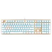 达尔优 机械师合金版 108键背光机械键盘 茶轴 白金色