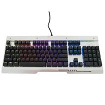 三巨 SKU833 机械键盘银黑色RGB水晶青轴标准版产品图片主图