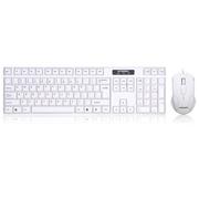 现代 HY-MA75W 复古本色白 有线USB接口键鼠套装