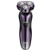 超人 SA7152 电动剃须刀 三头浮动刀头冲洗USB充电(亮紫色)