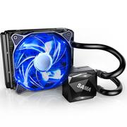 先马 冰河120 CPU散热器(双平台/一体式水冷/陶瓷轴承水泵/液压PWM风扇/安静/炫酷蓝灯)