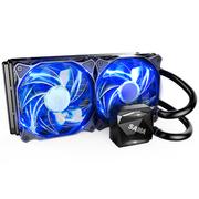 先马 冰河240 CPU散热器(双平台/一体式水冷/陶瓷轴承水泵/液压轴承PWM风扇/安静/炫酷蓝灯)