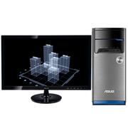 华硕 飞影M32CD 台式电脑 (I3-6100 4GB 1T GT720 2G独显 高清大屏)23英寸IPS