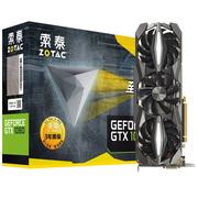 索泰 GeForce GTX1080-8GD5X至尊PLUS OC 1721-1860MHz/10110MHz 8G/256bit GDDR5X PCI-E显卡