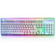 优派 ku310 天行者机械手感游戏音乐键盘白色RGB光标准版