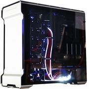 追风者 515ETG双侧透电脑游戏水冷机箱(3毫米铝材/4毫米钢化玻璃/RGB灯控/背线SSD防尘静音)银色