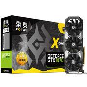 索泰 Geforce GTX1070-8GD5 X-GAMING OC 1582-1771MHz/8008MHz 8G/256bit GDDR5 PCI-E显卡