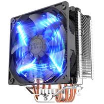 超频三 东海X5 CPU散热器 (多平台/5热管/12cm智能蓝灯风扇/cpu风扇/附带硅脂)产品图片主图