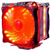 超频三 星际原力S1211 CPU散热器 (多平台/5热管/12cm双风扇/智能/带温测转速显示屏/附带硅脂)