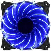 先马 太阳风 12CM蓝光 机箱风扇(15颗LED蓝灯/低电压启动/ABS注塑/550MM长排线/低噪音/高效散热)