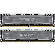 英睿达 铂胜运动LT系列DDR4 2400 16G(8Gx2 套装)台式机内存 迷彩灰