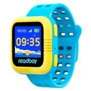 读书郎 W2c 智能手表 儿童电话手表 GPS定位防丢失手环 360智能防护安全电话手表手机 天空蓝
