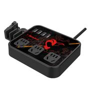 航嘉 智慧云祥云版 猴王 智能USB充电 儿童保护 防雷 3位 插座/排插/插排/插线板1.8米黑色
