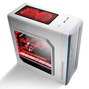 金河田 炫酷 宽体分体式机箱 (纯白色/大侧透/USB3.0/七彩LED灯带)
