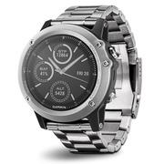 佳明 手表钛合金银色HR光电心率 户外运动跑步健身腕表