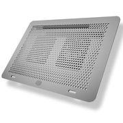 酷冷 MasterNotepal 支架式散热垫(模组化/铝合金表面喷砂涂层/卡扣式风扇)银色