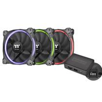 Thermaltake Riing 12cm RGB 套装软体版 机箱风扇(软件控制/风扇*3/RGB变色/减震系统/静音技术)产品图片主图