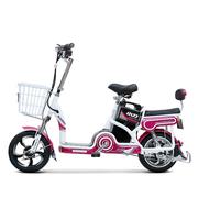 小刀 TDT-1611Z 新款助力电动车自行车48V12AH 全新脚踏电瓶车口哨 骄阳桃红