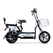 小刀 TDT-1514Z 新款双动力电动自行车 48V14寸踏板代步车悦翔瓷白