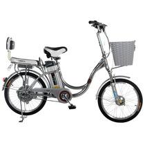 永久 乐活20吋锂电车 铝合金车架 48V10AH天能锂电池电动自行车 铝本色产品图片主图