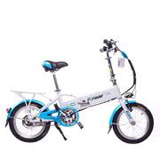 永久 mini电动车 锂电电动自行车 16寸36V隐藏可锁锂电池 天空蓝